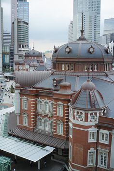 Seen from Kitte Garden. Electric Locomotive, Steam Locomotive, Magnetic Levitation, Tokyo Station, Civil Engineering, Around The Worlds, Europe, Explore, Mansions