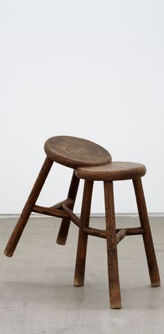 Ai Weiwei, Stool, 2008, Stools from the Qing Dynasty, (1644-1911), 68 x 38 x 65 cm, Private collection, Courtesy Faurschou Foundation.