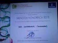 RECIBIMOS MENCIÓN DE HONOR 2013 - INNOVACIÓN EN PROYECTO ARDUINO