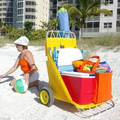 Collapsible Beach Cart | ... ® Folding Beach & Fishing Cart | Beach Carts | Carts On The Go