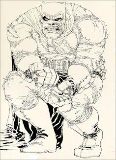 Frank MIller ink for Dark Knight #2