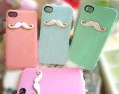 iPhone 4 case, iphone 4s case, unique iPhone 4s case, iPhone 4 cover, iPhone 4 skin, cute iphone 4 case, cute iphone 4s case mustache @Kathy Howard Hamilton brown and sydnee Stilwell