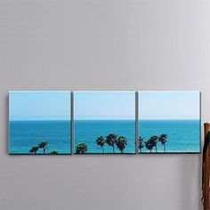MEDIUM: 3 Panel Canvas Art TITLE: Clean Break LOCATION: Hudington Beach, California