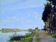 Monet - Promenade at Argenteuil -1871 -oil on canvas - National Gallery, Wash. DC