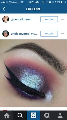 blue purple eyeshadow