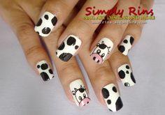 Cow Nail Art