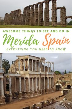 Awesome Things to See and Do in Merida Spain. The town of Merida in Spain is bursting with some of the worlds best preserved Roman Ruins. This travel guide will provide you with the things you need to know if you are planning a trip to Merida. Europe Destinations, Europe Travel Tips, European Travel, Travel Guides, Travel Advice, Spain And Portugal, Portugal Travel, Spain Travel Guide, Dream Vacations