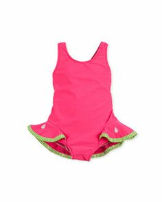 24a80e51af Z13MB Florence Eiseman Watermelon Slice One-Piece Swimsuit