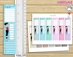 Printable stickers for use with your erin condren life planner tm or happy planner. Organization Bullet Journal, Paper Organization, Organizing, Printable Planner Stickers, Printables, Printable Workouts, Erin Condren Life Planner, Day Planners, Planner Pages