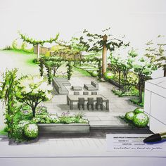 Quick And Easy Landscaping On A Budget - House Garden Landscape Croquis Architecture, Landscape Architecture Drawing, Landscape Sketch, Landscape Design Plans, Garden Design Plans, Landscape Drawings, Terraced Landscaping, Landscaping Jobs, Landscaping Software