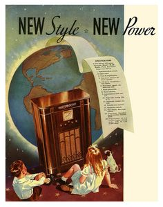 The World At Their Feet. #vintage #1930s #radio #ads
