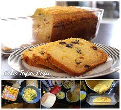 Cheese Tape Cake  (Tape=Fermented Cassava)