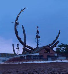 Fokaltornen by Simon Stålenhag