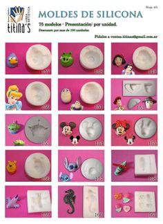 Moldes de Silicona Hoja4 www.titinas.com.ar