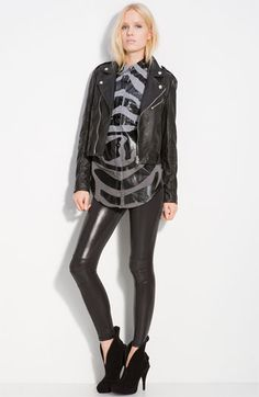 The jacket!! So much awesomeness. Every girl needs a black leather moto jacket.