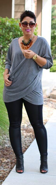 DIY Top + Leather Leggings / Fashion By Mimi G.