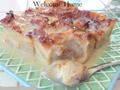 best recipes & cooking: Bread Pudding with Vanilla Cream Sauce