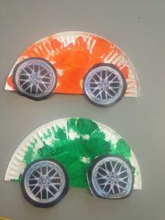 On the Go unit- Paper plate cars Kindergarten Activities, Preschool Crafts, Toddler Activities, Preschool Activities, Toddler Art, Toddler Crafts, Crafts For Kids, Arts And Crafts, Paper Plate Crafts