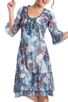 Orientique Ajanta Swing Dress - Womens Knee Length Dresses at Birdsnest Fashion