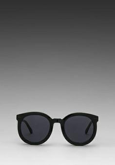 60957561d5 Karen Walker Super Duper Strength in Black New Ray Ban Sunglasses