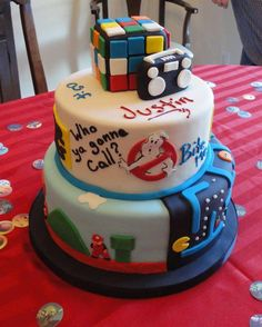 80s cake! Maybe more movies than video games.
