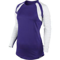 Nike Court Warrior Women's Long-Sleeve Volleyball Jersey (£38) ❤ liked on Polyvore featuring activewear, activewear tops, athletic sportswear, dri fit jerseys, nike, nike activewear and nike sportswear