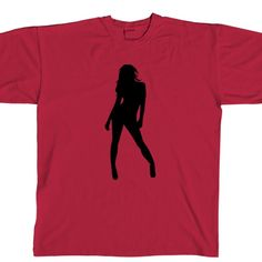 94034cae6f834 Sexy Girl Silhouette Crewneck T-Shirt Girl Silhouette, Store Closing,  Decal, Crew