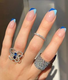 Discover 46 trendy acrylic nail designs that will make you want them done today. Frensh Nails, Cute Gel Nails, Swag Nails, Cute Short Nails, Cute Simple Nails, Short Gel Nails, Cute Simple Nail Designs, Short Nails Art, Beautiful Nail Designs