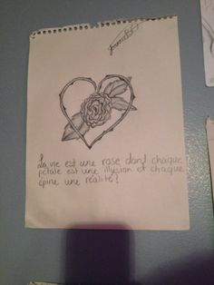 Citation Illusion, Rose, Drawings, Quote, Roses