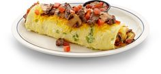 #IHOP brought the beef! Hearty and satisfying, the Big Steak Omelette comes loaded with tender steak, fresh green peppers, onions, mushrooms, diced tomatoes and Cheddar cheese.