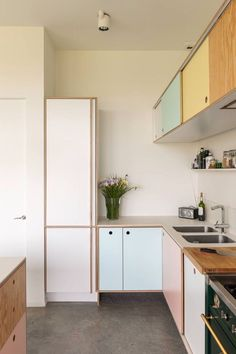 Pastel kitchen cabinets