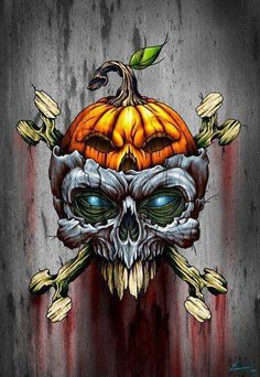 ☮✿★ SKULL ✝☯★☮ Halloween Illustration