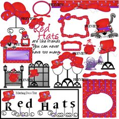 Red Hat Border Clip Art | Free printable, digital, scrapbook ...