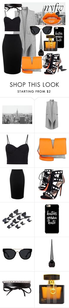 """What to pack:NYFW"" by klementina-kuzma ❤ liked on Polyvore featuring Vince, Alexander Wang, Jil Sander, Alexander McQueen, Carvela, Quay, Christian Louboutin, Fallon and Gucci"