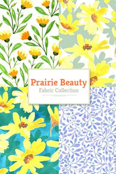 Prairie Beauty fabric collection 13 watercolor patterns #prairiebeauty