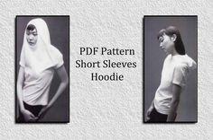PDF Pattern PDF pattern short sleeves hoodie short