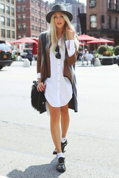 shirt dress & the rest. #SheaMarie in NYC. #PeaceLoveShea