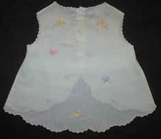 Vintage Baby Diaper Shirt Mint Green Darling Embroidery Dressy Fancy Birds Flowers