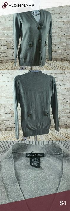 Womens Sweater Size Small Womens Sweater V Neck Button Up. Audrey & Grace Sweaters