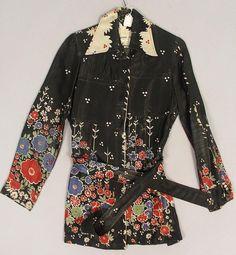 Ossie clark w/celia birtwell print jacket. Ossie Clark, 70s Fashion, Vintage Fashion, Fashion Outfits, Seventies Fashion, Clarks, Celia Birtwell, Print Jacket, Winter Sweaters