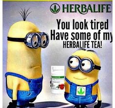Herbalife Tea Minions Contact me for your free wellness evaluation! http://www.goherbalife.com/Dixie