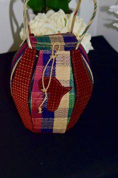 Raffia Round bandbag