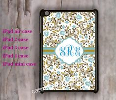 Classic notebook design Monogram ipad Air by charmcover on Etsy, $19.99