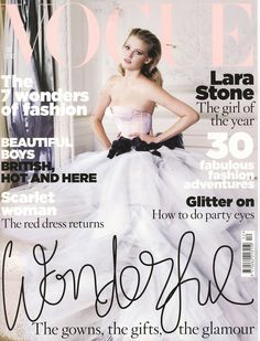 A very young looking Lara Stone in a stunning wedding dress on the cover of vogue. A very young looking Lara Stone in a stunning wedding dress on the cover of vogue. Vogue Magazine Covers, Fashion Magazine Cover, Fashion Cover, Vogue Covers, Vogue Uk, Vogue Photo, Vogue Russia, Teen Vogue, Lara Stone