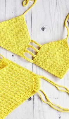 Modern Crochet Bikini and Swimwear Pattern Ideas for Summer 2019 - Page 27 of 43 - Women Crochet Motif Bikini Crochet, Bikinis Crochet, Crochet Bikini Bottoms, Knit Crochet, Ravelry Crochet, Bikini Sets, Crochet Bathing Suits, Modern Crochet, Crochet Clothes