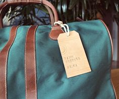 How to make Leather Luggage Tags- moisten back to make it easier
