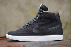 Nike Blazer Mi Suède Fond De Paillettes Gris