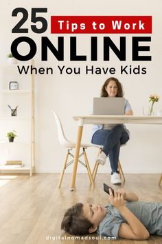 Do you work from home when your kids are around? Being a stay-at-home-mom can be extremely hard and stressful! Check out this ultimate list with the 25 best tips on how you can work online from your home office with your kids around AND be super productive! #productivitytips #stayathomemom #stayathomedad #remotework #makemoneyonline #sidehustle Foster Parenting, Parenting Hacks, Curves And Confidence, Innovative Office, Stay At Home Dad, Work Family, Easy Jobs, Mom Advice, Home Office Design