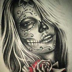 Tattoodo – Famous Last Words Hand Tattoos, Body Art Tattoos, Tattoo Drawings, Sleeve Tattoos, Sugar Skull Mädchen, Sugar Skull Girl Tattoo, La Muerte Tattoo, Catrina Tattoo, Chicano Tattoos