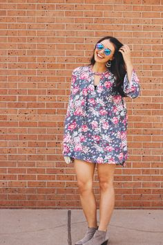 Cute floral tunic fo